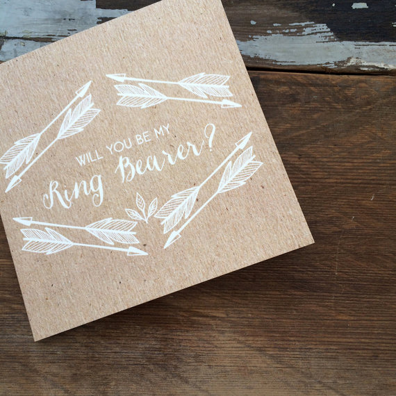 Mariage - Will you be my Ring Bearer card