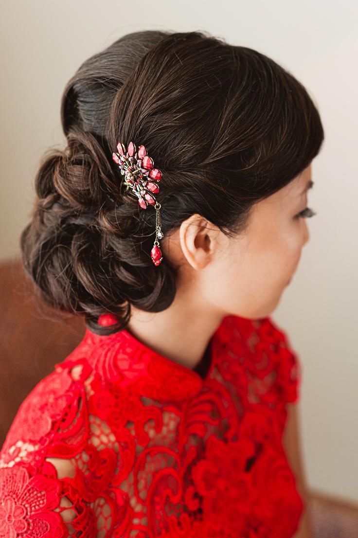 Прически в японском или китайском стиле