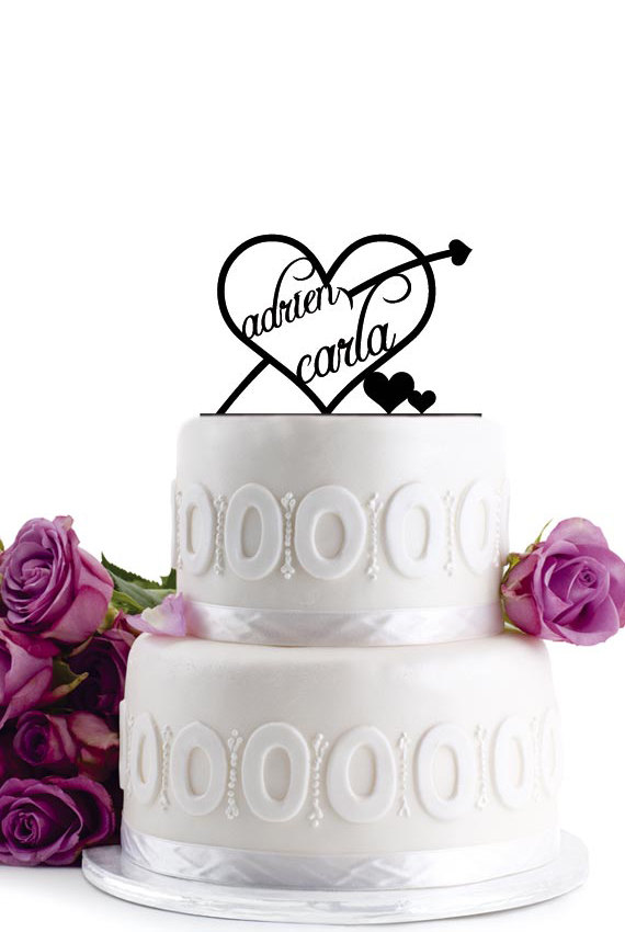 زفاف - ON SALE !!! Wedding Cake Topper - Wedding Decoration- Monogram Cake Topper - For Love - Anniversary Cake Topper - Birthday Cake Topper