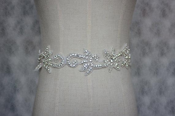 Свадьба - rhinestone sash, wedding sash,bridal sash, bride sash, bride belt