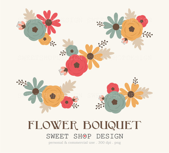 50 Off Sale Flower Clipart Wedding Clipart Royalty Free Clipart