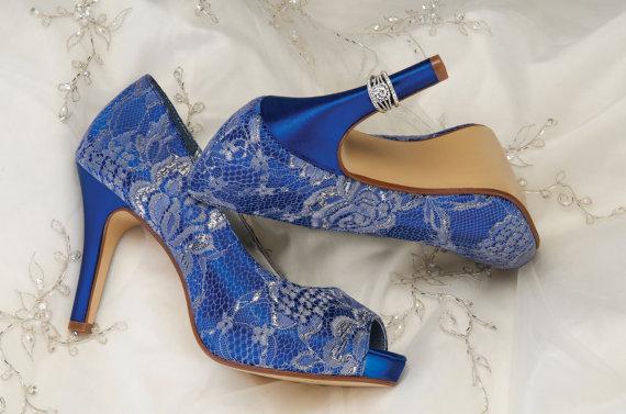 Lace Wedding Shoes Custom Colors 120 Choices Vintage P Toe Heels Women S Bridal Pbd Heel 3 25