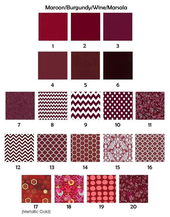Hochzeit - Bridesmaid Clutches Wedding Clutches Clasp Clutches - Choose Your Fabric Maroon, Marsala, Wine, and Burgundy Set of 5