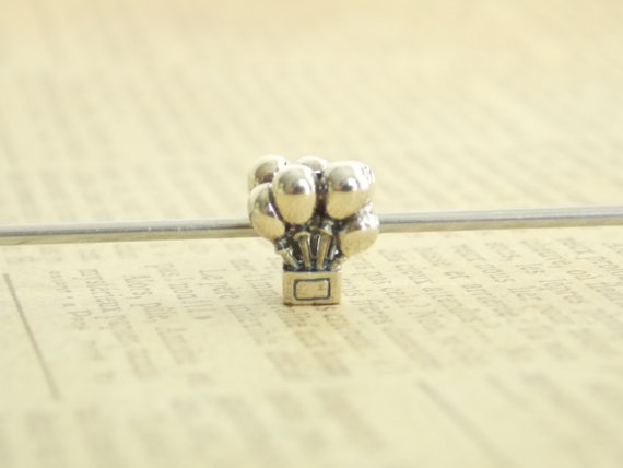 Mariage - Bunches of Balloons Bouquet Sterling Silver European Style Charm Bead