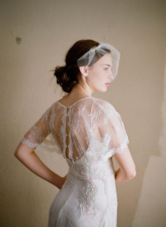 Mariage - Mini bridal tulle veil - Mini tulle veil - Style 218 - Ready to Ship