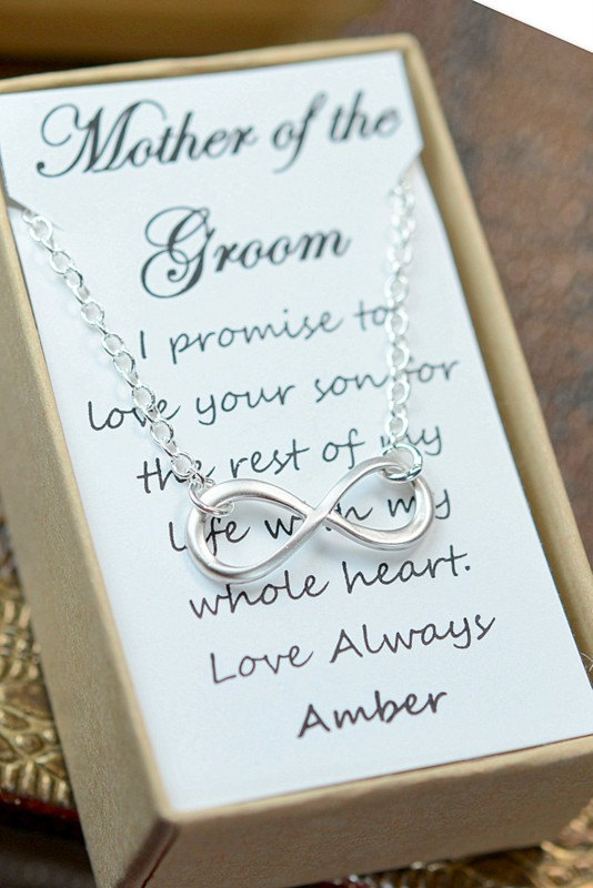 Mother Of The Groom Gift In Law Bridesmaid Gifts Wedding Jewelry Infinity Bracelet Card Best Friends Friendship To