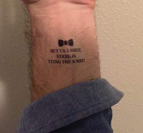 زفاف - Bachelor Tattoos, Buy Me A Drink & Groom Tattoo - Custom