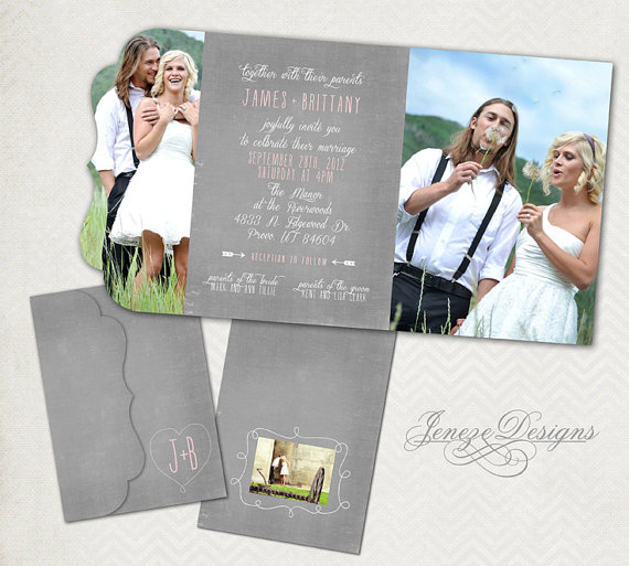 Wedding Invitation Template - Photographers And Photoshop Users Only ...