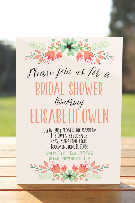 How to write invitations for bridal shower