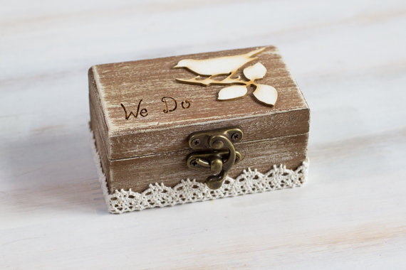 Ring bearer box wedding ring box we do rustic ring bearer box custom ring bearer box wedding ring box we do rustic ring bearer box custom ring bearer box pillow alternative birds ring box maid of honor junglespirit Images