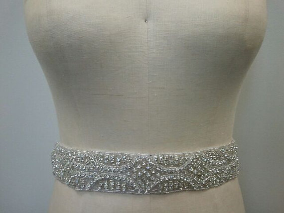 Mariage - Wedding Belt, Bridal Belt, Sash Belt, Crystal Rhinestone - Style B106
