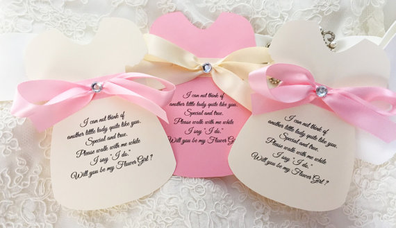 Свадьба - Will you be my flower girl, will you be my bridesmaid cards, wedding party invitations