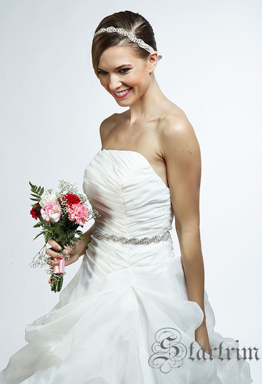 Свадьба - SALE ROMA Swarvoski wedding bridal rhinestone sash belt,head piece