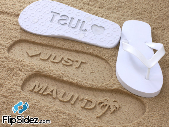 ebc4aae424e0 Custom Beach Wedding Flip Flops  Check Size Chart Before Ordering ...