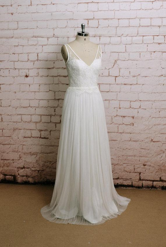 Wedding Gowns A Line Cut : Bridal gown with v back cut ivory color wedding dress a line