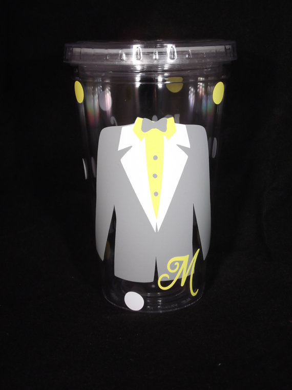 Свадьба - Personalized Groom / Ring Bearer tumbler - wedding party cups for 16 ounce cups