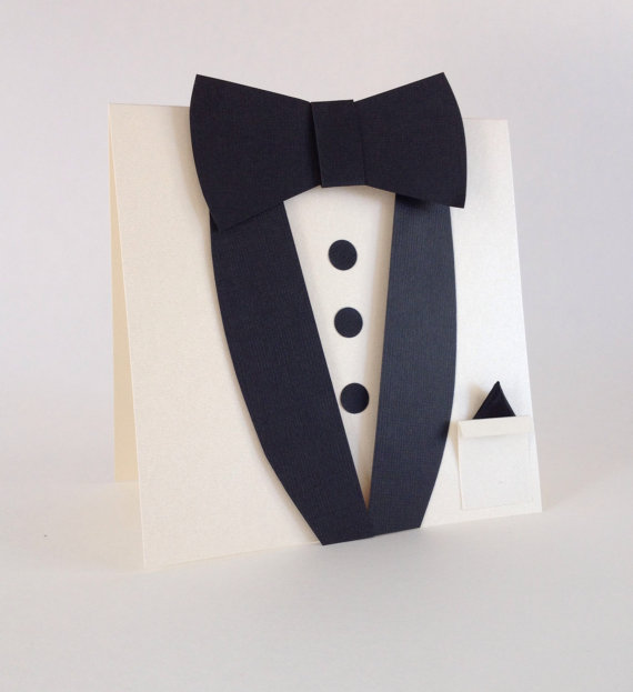 Свадьба - Ivory Suit and Bow Tie Invitations - Best Man Card - Wedding Party Cards - Groomsmen - Usher invitations - Will you be my Groomsman