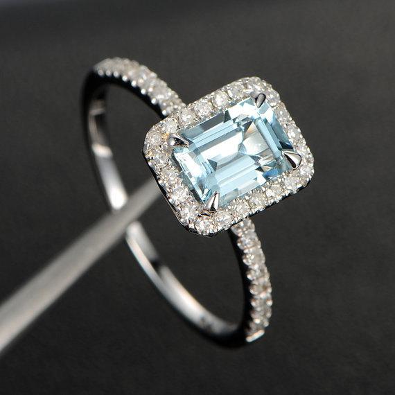 5x7mm emerald cut gemstone amp diamond engagement ring 14k
