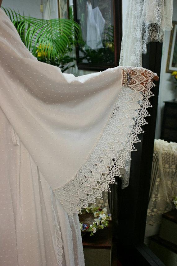 Свадьба - White Cotton Robe Dotted Swiss Robe Bridal Lingerie Wedding White Robe White Sleepwear White Lingerie Cotton Sleepwear Cotton Lingerie