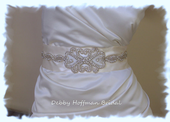 زفاف - Vintage Inspired Rhinestone Crystal Bridal Sash, Jeweled Wedding Sash, Wedding Dress Belt, No. 2011S1126, Wedding Accessories, Belts, Sashes
