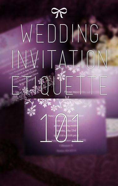 Свадьба - What You Must Know About Wedding Invitation Etiquette