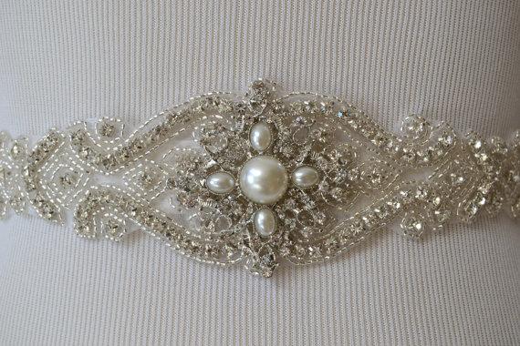 Mariage - Wedding Belt, Bridal Belt, Sash Belt, Crystal Rhinestone