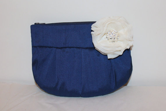 Свадьба - Wedding / Bridal / Bridesmaid Clutch / Wristlet clutch - Royal Blue Clutch Purse - Perfect Bridesmaid Gift