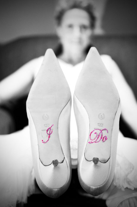 Hochzeit - Wedding Crystal I DO Shoe Stickers in Pink