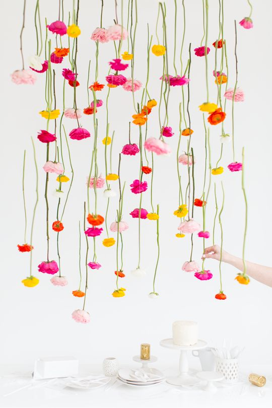 زفاف - DIY Hanging Flower Installation