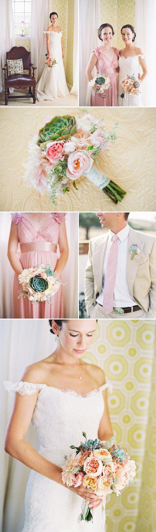 Свадьба - Coral And Peach Wedding Inspiration