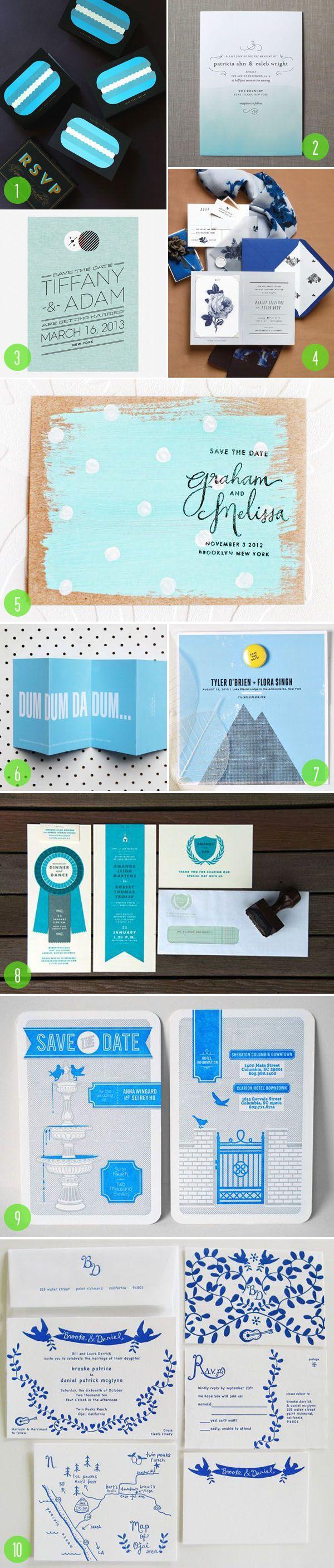 زفاف - Top 10: Blue Invitations