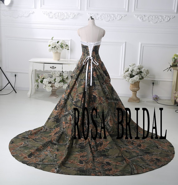 Camo Bridal Dress Camouflage Wedding Gown Camo Wedding Dress
