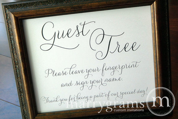 Alternative Guest Book Table Sign
