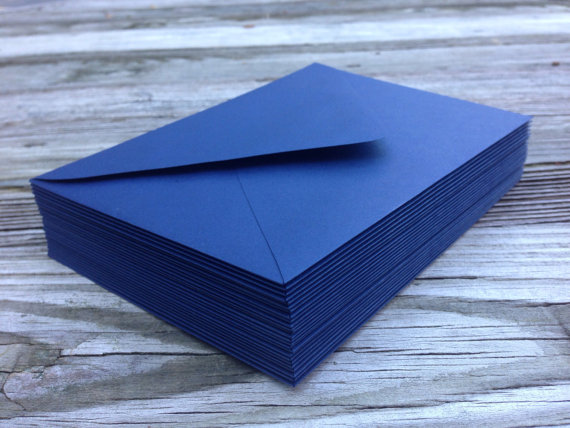 50 A7 5x7 Or 4bar Envelopes Night Dark Navy Blue Paper Source