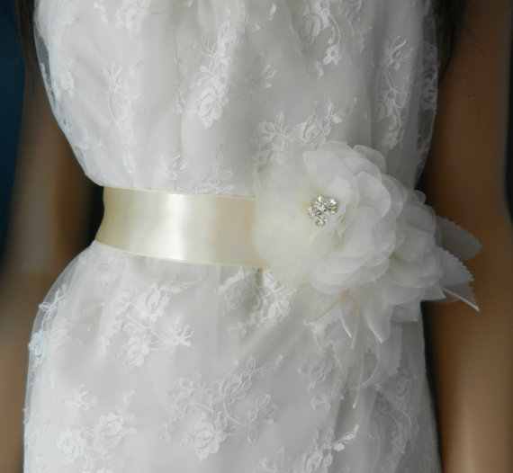 Sash, Bridal Wedding Dress Sashes Belts, Bride Sash With Flowers ...