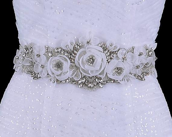 Свадьба - Amazing  Bridal Belt , Wedding Belt , Beaded Belt , Wedding Sash , Bridal Sash , Crystal Applique , Bridal Belt Sash , Charcoal Sash