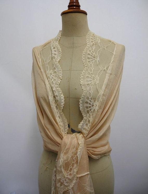 Свадьба - Bridal Shawl, wedding scarf, Prom Shawl, Lace Scarf, Bridal Stole Pashmina Bride Bridesmaid Stole, boho