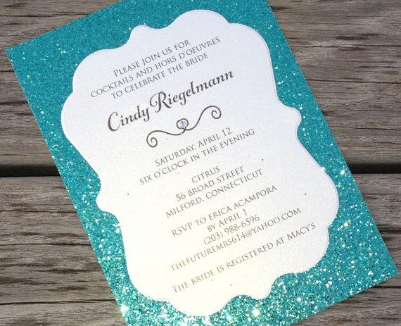 Teal Invitations Wedding: Bridal Shower Invitation