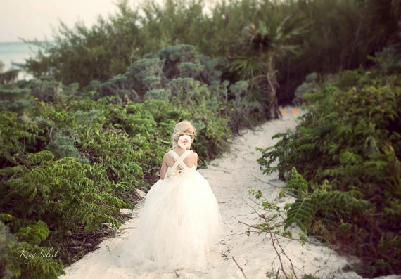 Mariage - PRE-ORDER Queen Anne's Lace Tulle  Flower Girl Dress