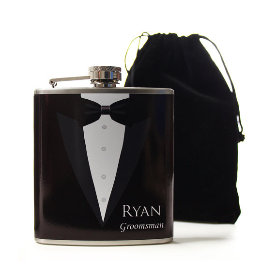 Свадьба - Wedding Party Gifts, Personalized Flasks for Groomsmen