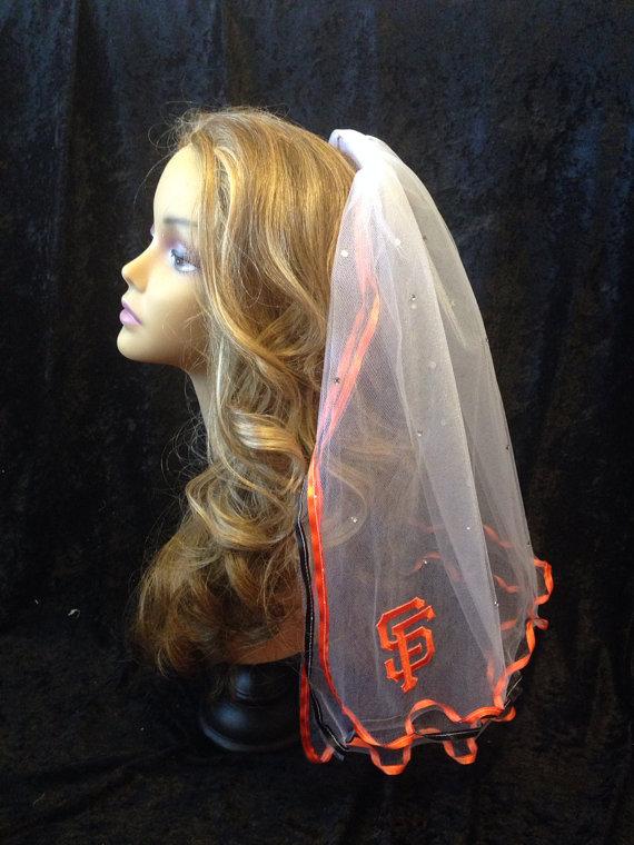 Wedding - San Francisco Giants Bachelorette Veil