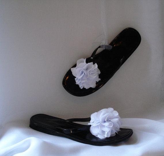 Mariage - Shoe Clips Chiffon Flowers