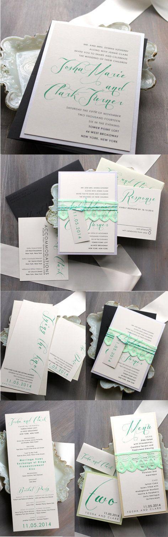 زفاف - Mint Script - Modern Wedding Ceremony Programs, Mint Wedding - Purchase To Start The Ordering Process