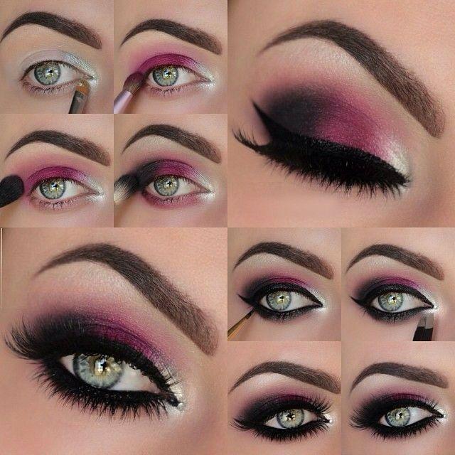 Makeup Dark Red Violet Eye Makeup Tutorial 2273376 Weddbook