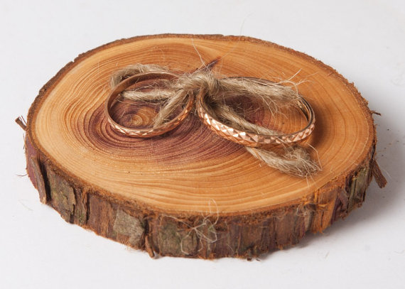 زفاف - Rustic ring bearer pillow, rustic ring holder, rustic ring box, wedding decoration, woodland wedding decor
