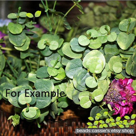 Mariage - HF069 1 bush Eucalyptus leaves - Artificial silk flowers,for Home decoration and decorate living room,DIY Wedding Bouquet,home furnishing