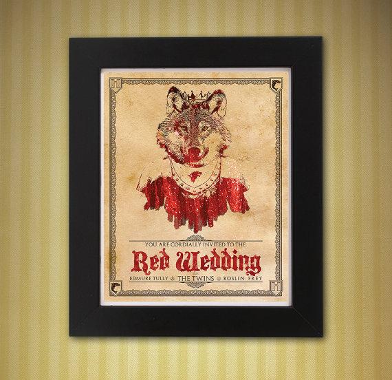 زفاف - Game of Thrones Red Wedding Invitation 8x10