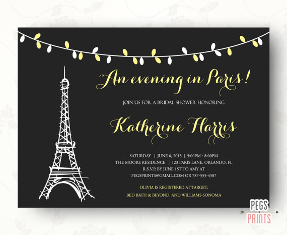An evening in paris bridal shower invitation parisian theme an evening in paris bridal shower invitation parisian theme wedding baby shower birthday invite printable filmwisefo