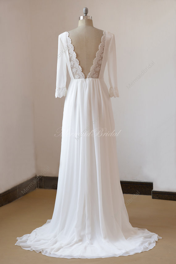 Wedding Dresses With Chiffon Sleeves 54