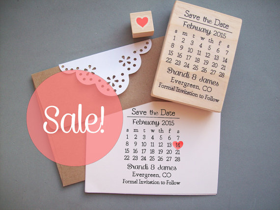 Save the date stamp set diy calendar stamp with heart over your save the date stamp set diy calendar stamp with heart over your date names and location wedding rubber stamp junglespirit Gallery